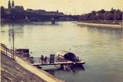 ライン川で見つけた渡し舟の写真