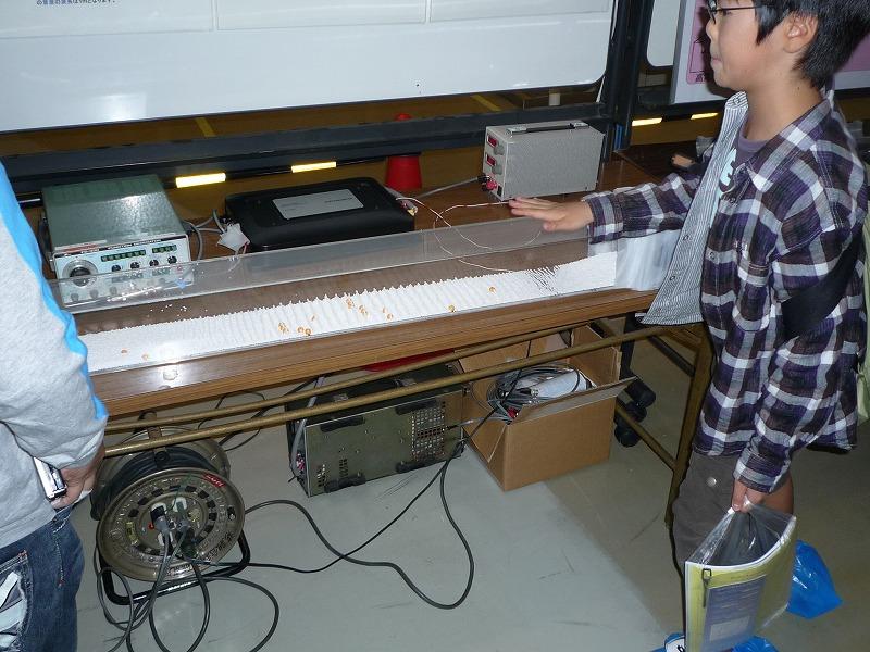 クント管の実験展示